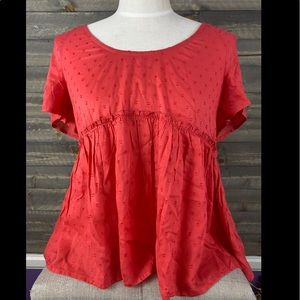 Lucky brand baby doll blouse